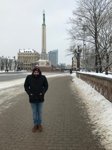 Cold dude in Riga