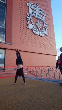Hand stand outside Anfield