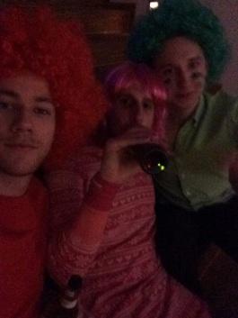 "Christmas party - Colour Theme (ofc did Rabi ""randomly"" get pink...)"